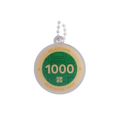 Milestone Geocoin - 1000 Finds