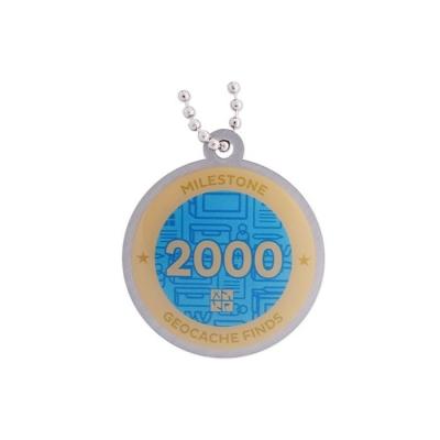 Milestone Geocoin - 2000 Finds