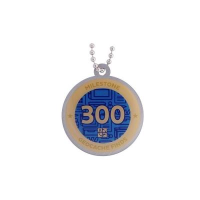 Milestone Geocoin - 300 Finds