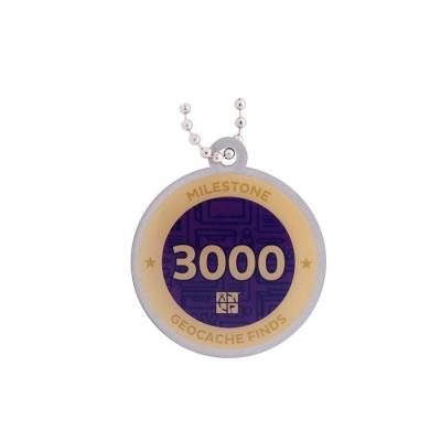 Milestone Geocoin - 3000 Finds