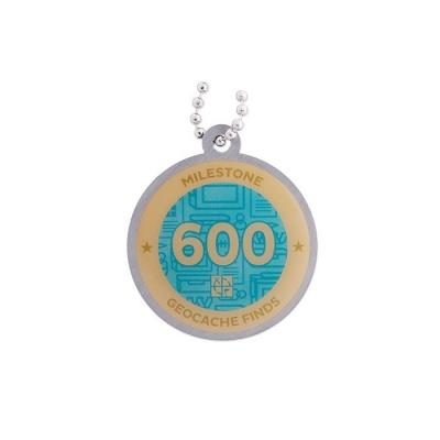 Milestone Geocoin - 600 Finds