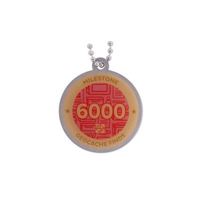 Milestone Geocoin - 6000 Finds