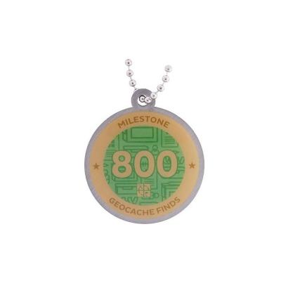 Milestone Geocoin - 800 Finds