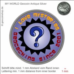 Mystery Geocoin - Vorlage für deinen persönlichen Geocoin