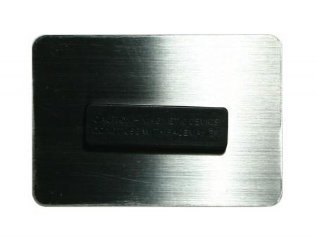 Trackbares Namensschild / magnetische Befestigung