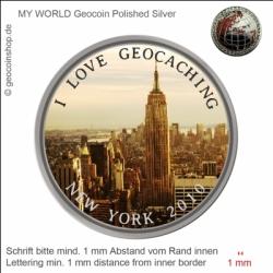 New York Geocoin - Vorlage für deinen persönlichen Geocoin