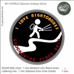 Nightcache Geocoin - Vorlage für deinen persönlichen Geocoin