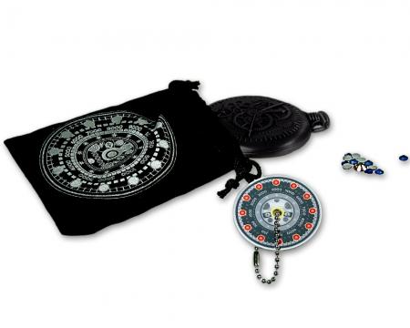 Pocket Cache Counter Geocoin Black Nickel Lieferumfang