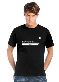 Geocaching T-Shirt Searching schwarz