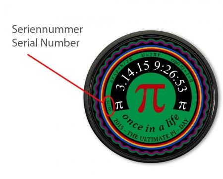 Pi- Day Geocoin Seriennummer