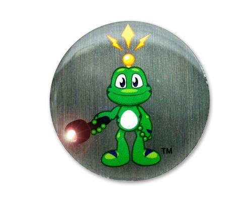 Signal the Frog Nachtcacher Pin weiß blinkend
