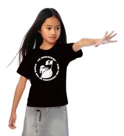 Geocaching T-Shirt | Signal the Frog Pirat schwarz Kid