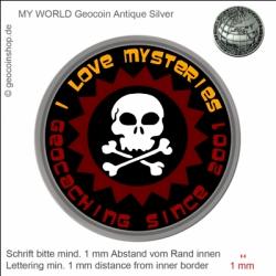 Skull Geocoin - Vorlage für deinen persönlichen Geocoin