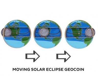 Sonnenfinsternis Geocoin