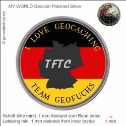 TFTC Germany Geocoin - Vorlage für deinen persönlichen Geocoin