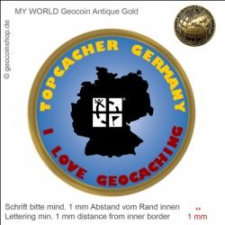 Top Cacherr Geocoin - Vorlage für deinen persönlichen Geocoin