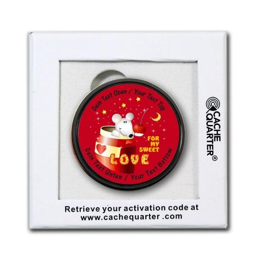 Valentine Love Geocoin mit deinem eigenen Text