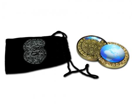Weltuntergang Geocoin Veloursbeutel
