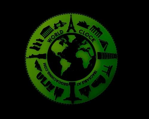World Clock Geocoin Glow Nachtleuchtend XLE 50