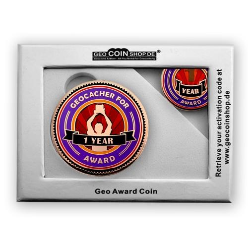 Geo Award Geocoin - Geschenkbox Schatulle