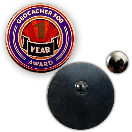 Geo Award Geocoin - 1 Jahr Pin