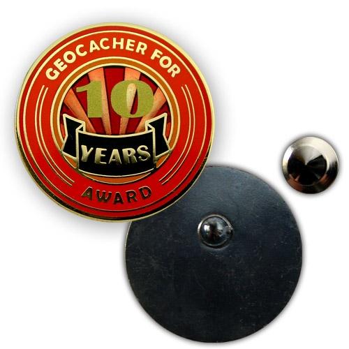 Geo Award Geocoin - 10 Jahre Pin