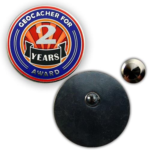 Geo Award Geocoin - 2 Jahre Pin