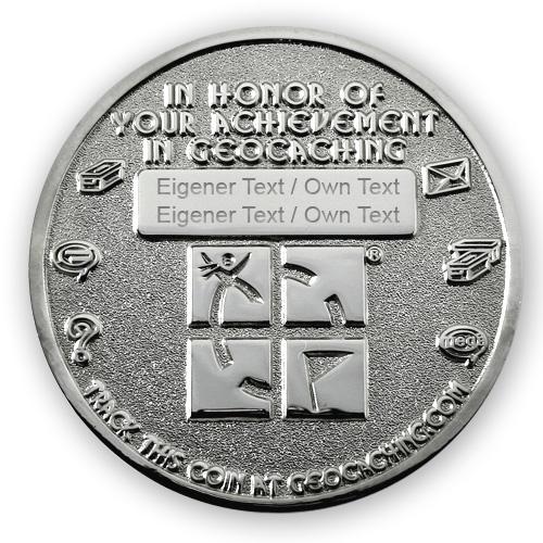 Geo Award Geocoin - 4 Jahre Gravur