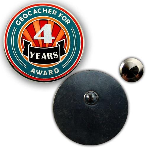 Geo Award Geocoin - 4 Jahre Pin