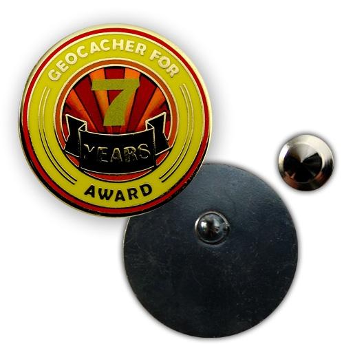 Geo Award Geocoin - 7 Jahre Pin