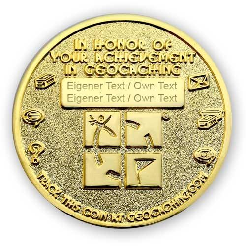 Geo Award Geocoin - 8 Jahre Gravur