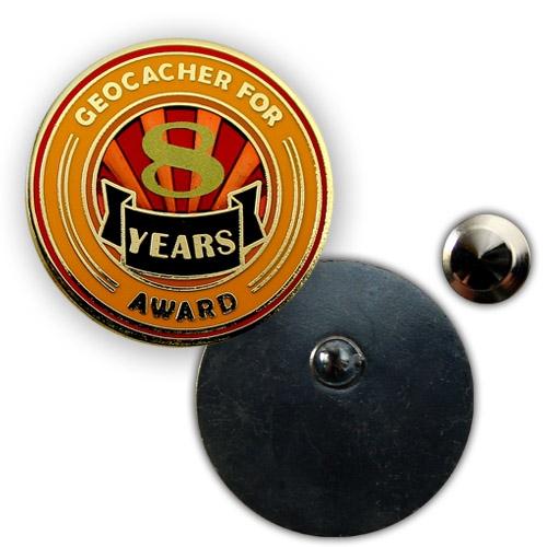 Geo Award Geocoin - 8 Jahre Pin