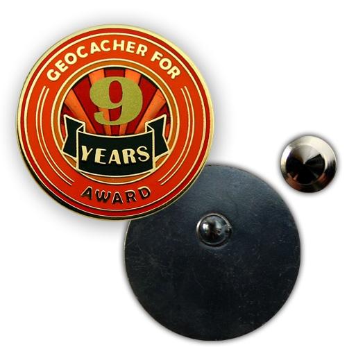 Geo Award Geocoin - 9 Jahre Pin